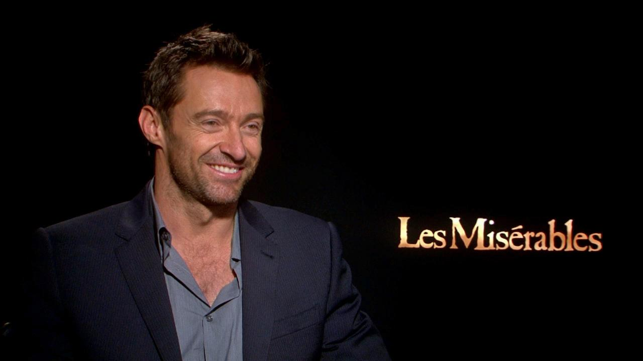 Hugh Jackman talked to OTRC.com about his upcoming film Les Miserables on Dec. 3, 2012.