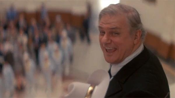 Charles Durning appears in a scene from the 1982 musical film 'The Best Little Whorehouse in Texas.'