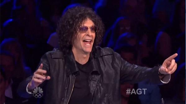 Howard Stern appears on NBC's 'America's Got Talent' in 2012.