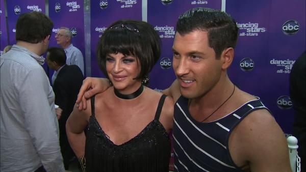 Kirstie Alley and Maksim Chmerkovskiy talk to OTRC.com after the October 1, 2012 episode of 'Dancing With The Stars.'