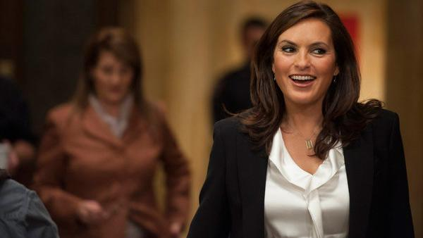 Mariska Hargitay appears in a scene from a Jan. 30, 2013 episode of 'Law and Order: SVU.'