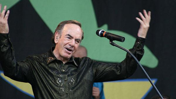 Neil Diamond performs at the Glastonbury music festival in the UK on June 29, 2008.