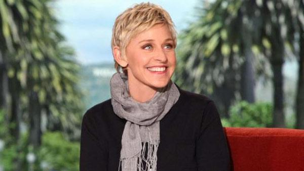 Ellen DeGeneres appears in a promotional photo for 'Ellen' posted on the show's Facebook page in February 2012.
