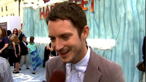 Elijah Wood talks to OnTheRedCarpet.com at the Hollywood premiere of 'Happy Feet Two.'