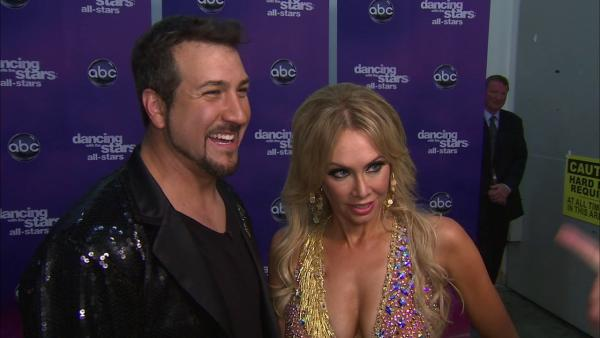 Joey Fatone and Kym Johnson talk to OTRC.com after the September 24, 2012 episode of 'Dancing With The Stars.'