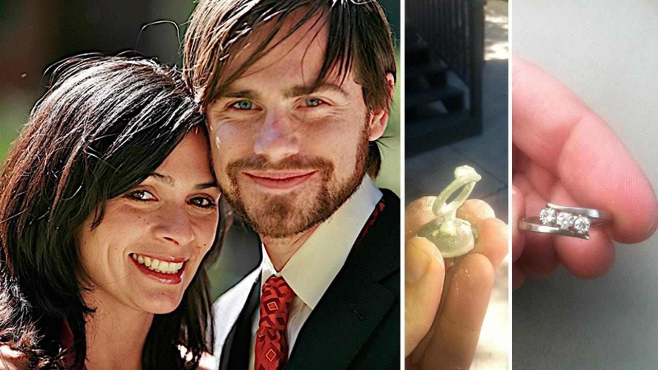 Rider Strong and Alexandra Barreto appear in a photo the actors rep provided on Dec. 27, 2012, the day he announced the two are engaged. / The engagement ring Rider Strong designed for his fiancee.