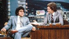 Jay Leno appears on Late Night with David Letterman in an episode that aired in the early 1980s. - Provided courtesy of NBC