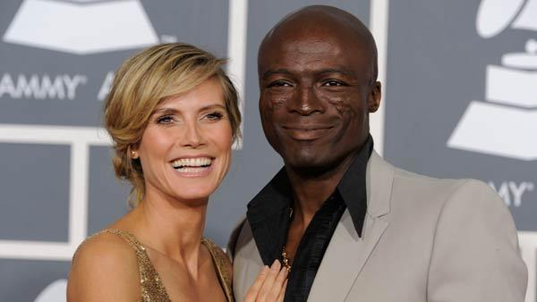 Heidi Klum, left, and Seal arrive at the 53rd annual Grammy Awards on Sunday, Feb. 13, 2011, in Los Angeles.