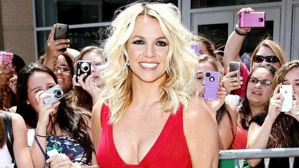 Britney Spears appears in a photo posted on her official Facebook page on July 18, 2012.