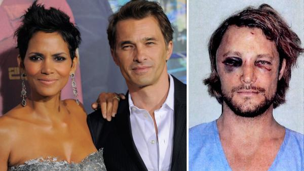 L: Halle Berry, a cast member in 'Cloud Atlas,' poses with her fiance' Olivier Martinez at the premiere of the film on Oct. 24, 2012. R: This photo made available in Los Angeles Superior Court documents released Monday, Nov. 26, 2012 shows Gabriel Aubry.