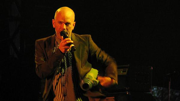 Michael Stipe performs with R.E.M. at the VooDoo Music Experience concert in October 2008 in New Orleans, Louisiana.