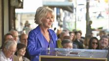 Helen Mirren delievers a speech after getting her star on the Hollywood Walk of Fame on January 3, 2013. - Provided courtesy of OTRC