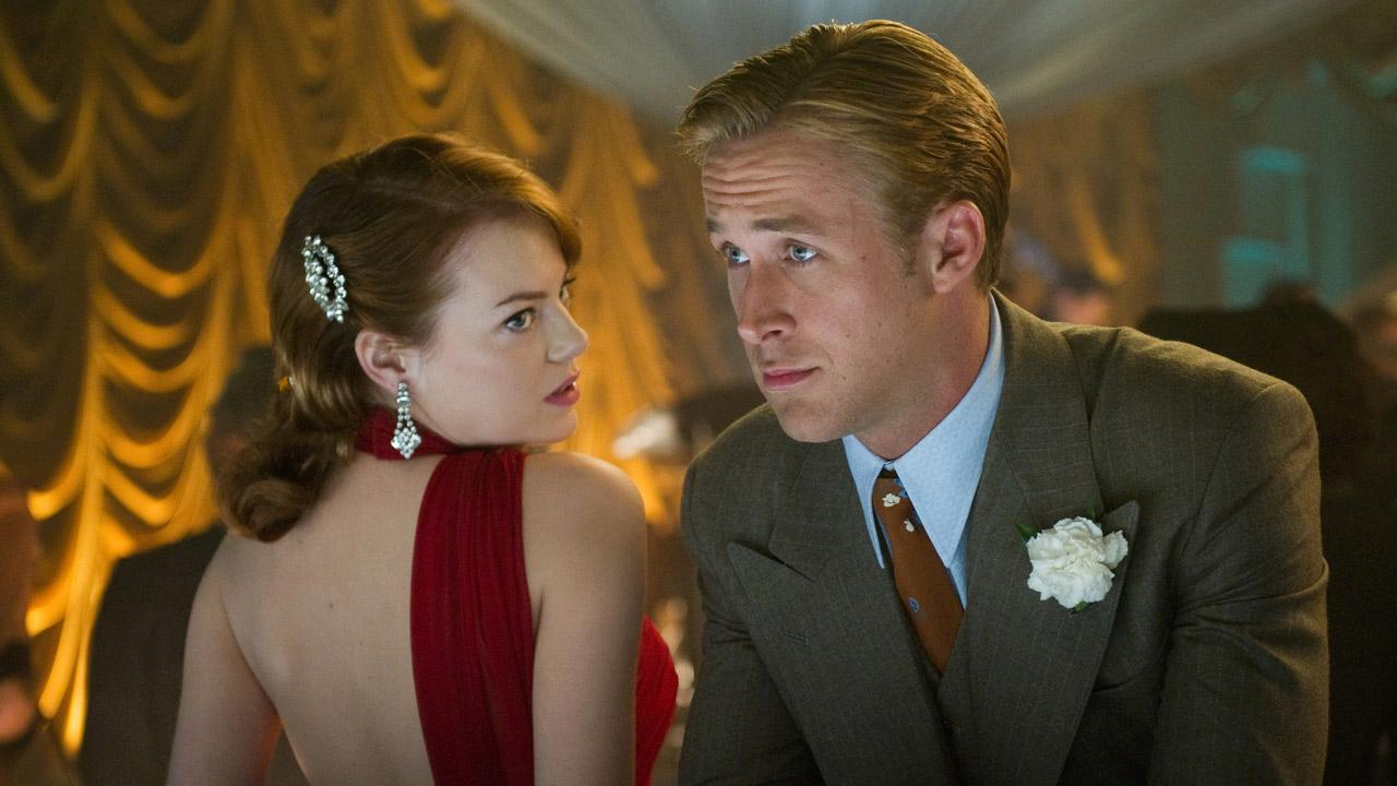 Ryan Gosling and Emma Stone appear in a scene from the 2013 film Gangster Squad.