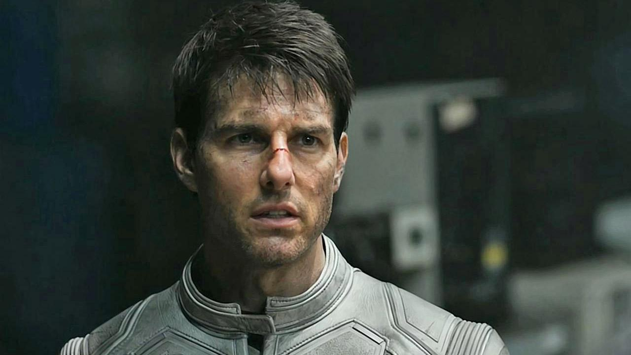 Tom Cruise appears in a scene from the 2013 film Oblivion.