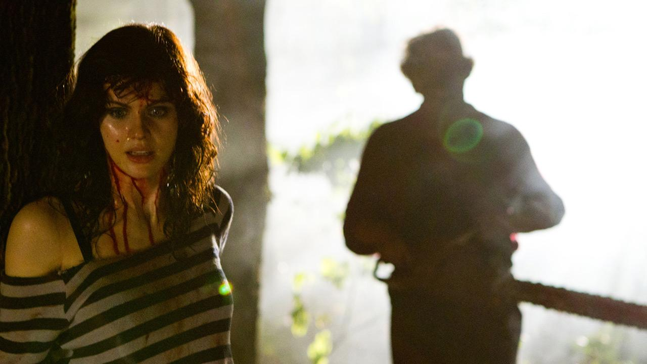 Alexandra Daddario appears in a 2013 photo from the Lionsgate horror film Texas Chainsaw 3D.
