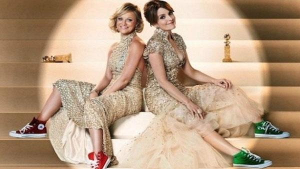 Tina Fey and Amy Poehler appear in a promo photo for the 2013 Golden Globe Awards. - Provided courtesy of Golden Globes