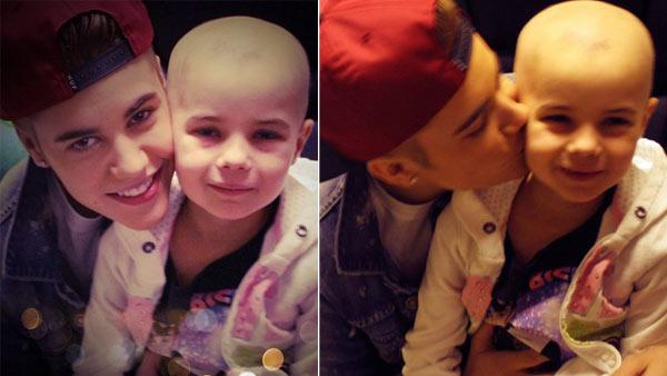 Justin Bieber appears in a photo with fan Millie Smith, which he re-Tweeted from another Twitter user on Jan. 6, 2013. - Provided courtesy of twitter.com/BieberHades