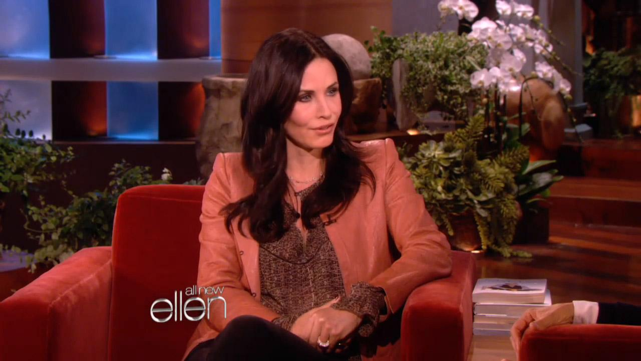 Courteney Cox appears in a still from her January 7 appearance on The Ellen DeGeneres Show.