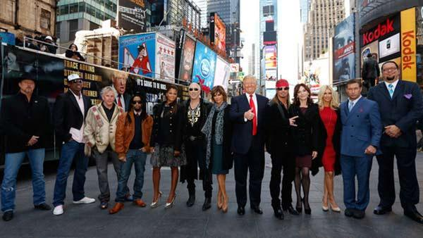 The cast of NBCs All Star Celebrity Apprentice appear in a promotional photo for the upcoming season of the reality series. - Provided courtesy of NBC Photo