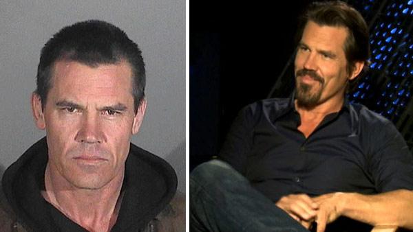 Josh Brolin appears in a booking photo provided by the Santa Monica Police Department in California. He was arrested on Jan. 1, 2013 on suspicion of public intoxication. / Josh Brolin talks to OTRC.com about Men In Black 3 in a May 2012 interview. - Provided courtesy of OTRC