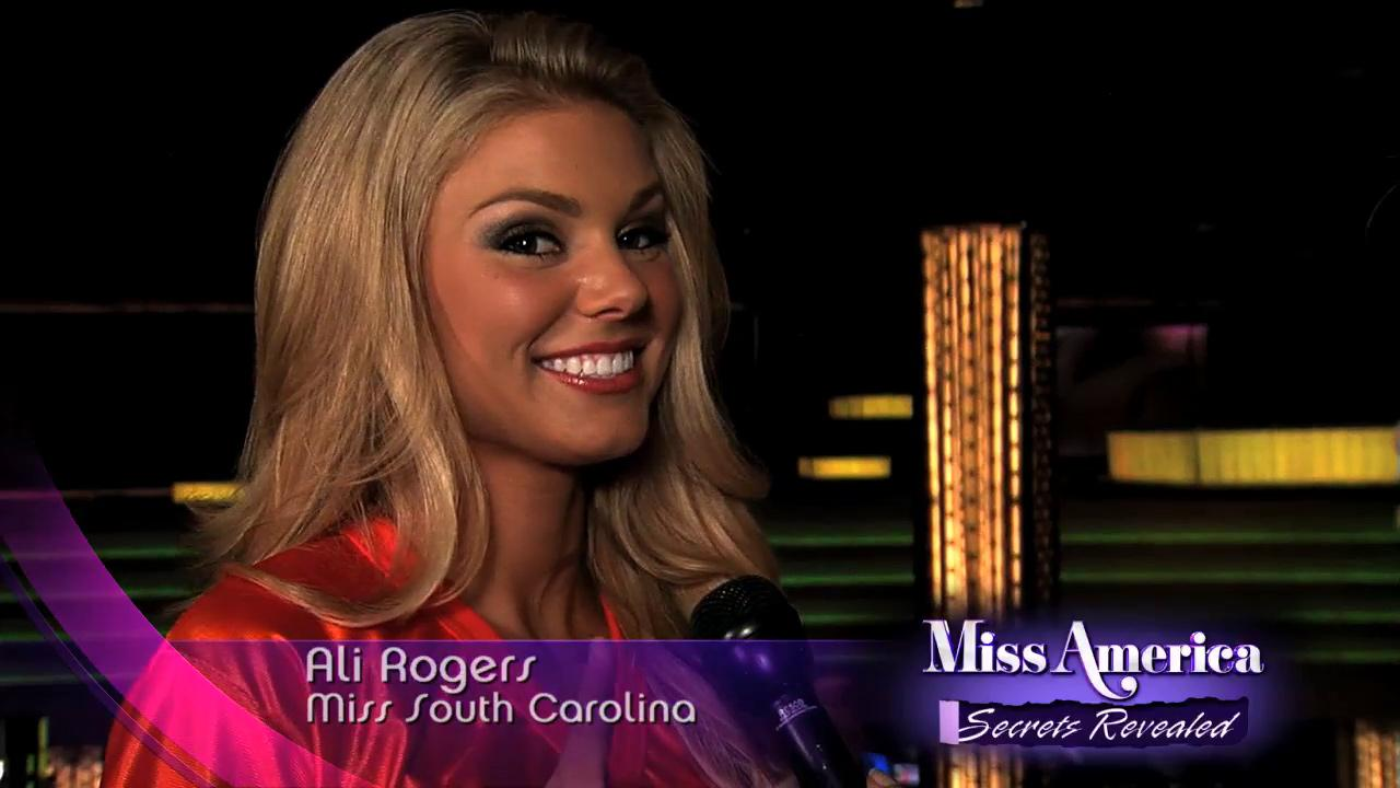 Ali Rogers, Miss South Carolina 2012, appears in a behind-the-scenes interview for the Live Well Networks Miss America: Secrest Revealed, airing Jan. 7 - Jan. 11, 2013.