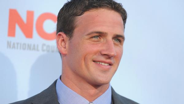 Ryan Lochte arrives at the ALMA Awards on Sunday, Sept. 16, 2012, in Pasadena, Calif. - Provided courtesy of Jordan Strauss / AP
