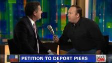 Piers Morgan and Alex Jones appear on Piers Morgan Tonight on Jan. 7, 2013. - Provided courtesy of CNN