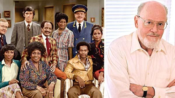 Ned Wertimer (top right) appears in a cast publicity photo for The Jeffersons. / Ned Wertimer appears in an undated publicity photo. - Provided courtesy of Sony Pictures Home Entertainment / Lemack and Company Talent Management