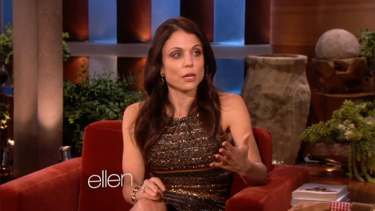 Bethenny Frankel appears on The Ellen DeGeneres Show on January 9, 2013.