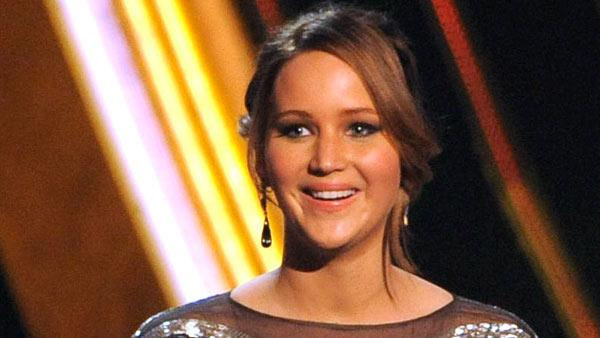 Jennifer Lawrence accepts an award at the 2013 Peoples Choice Awards on January 9. - Provided courtesy of Ap / Chris Pizzelo