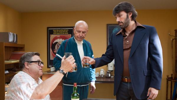Alan Arkin, John Goodman and Ben Affleck appear in a scene from the 2012 film 'Argo.'