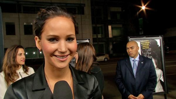 Jennifer Lawrence talks to OTRC.com at the premiere of 'Silver Linings Playbook' on Nov. 19, 2012.