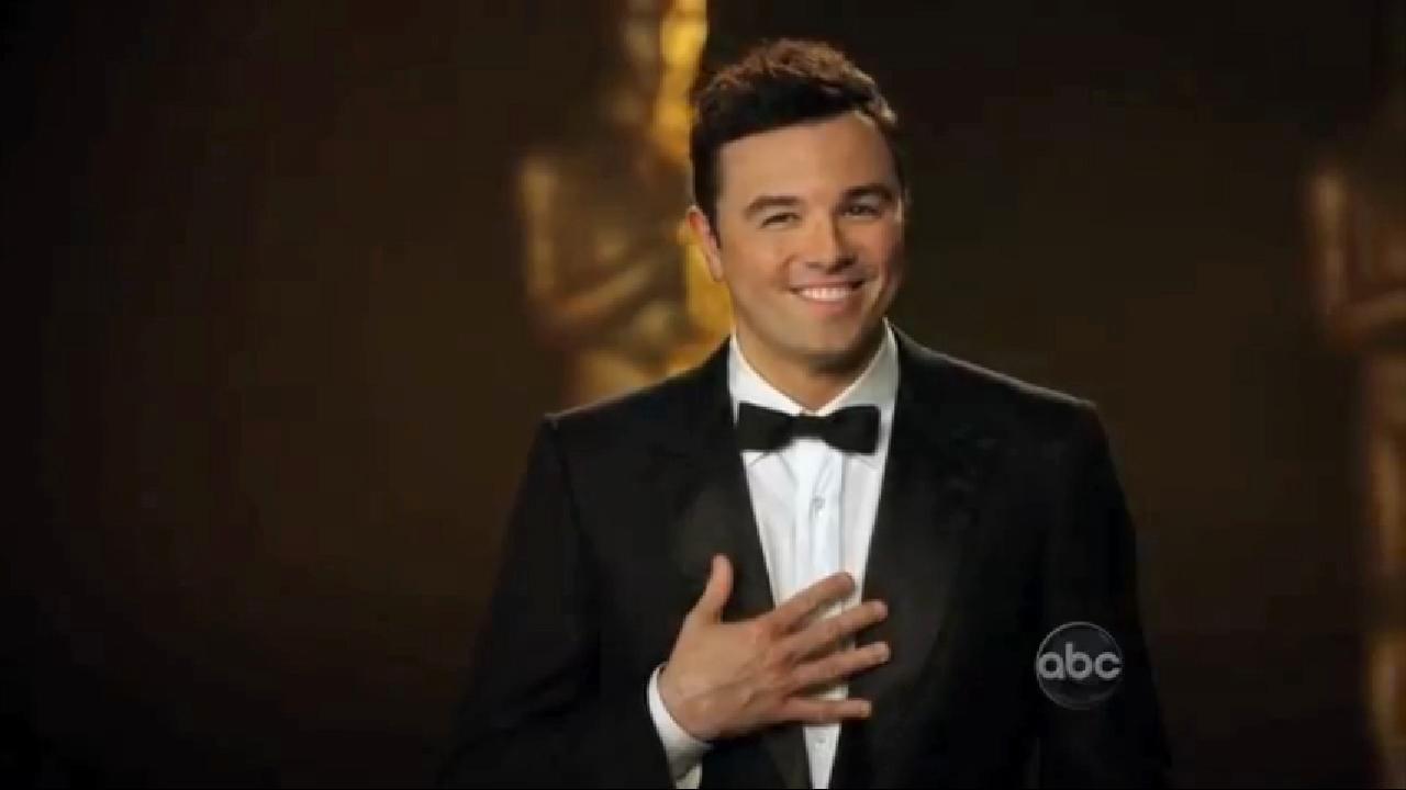 Seth MacFarlane appears in a scene from a January 2013 promotional video for the 2013 Oscars.