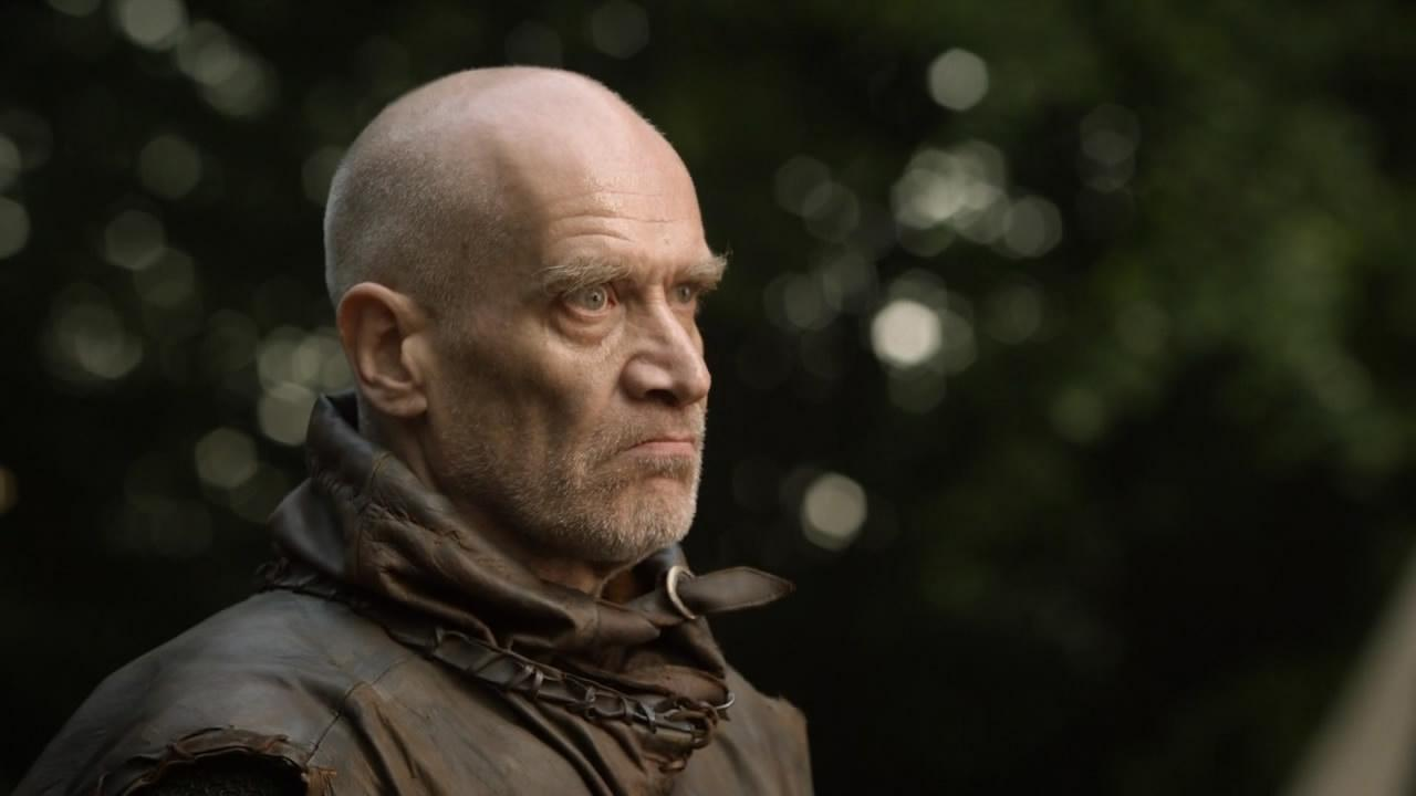 Wilko Johnson appears in a scene from the HBO series Game of Thrones.