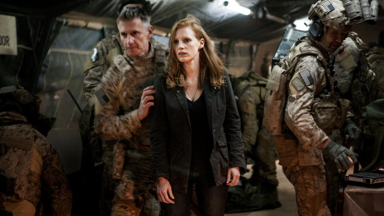 Jessica Chastain appears in a scene from the 2012 film Zero Dark Thirty.