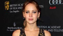 Jennifer Lawrence arrives at the BAFTA Awards Season Tea Party at The Four Seasons Hotel on Saturday, Jan. 12, 2013, in Los Angeles.