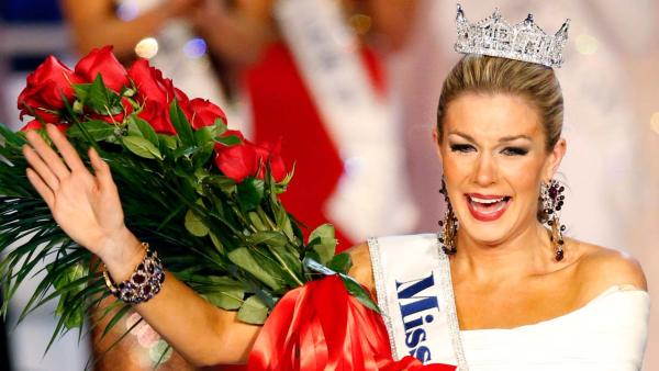 Miss New York, Mallory Hagan, appears in a photo shortly after winning the title of Miss America 2013 on January 12, 2013. - Provided courtesy of ABC