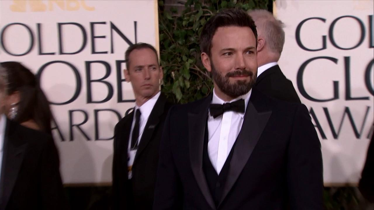 Ben Affleck appears at the 2013 Golden Globe Awards in Beverly Hills, California on Jan. 13, 2013.