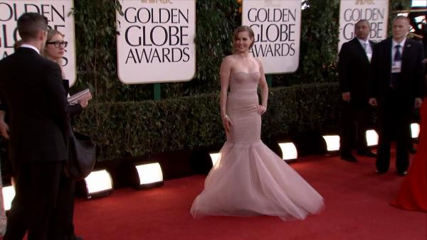Amy Adams appears at the 2013 Golden Globe Awards in Beverly Hills, California on Jan. 13, 2013.