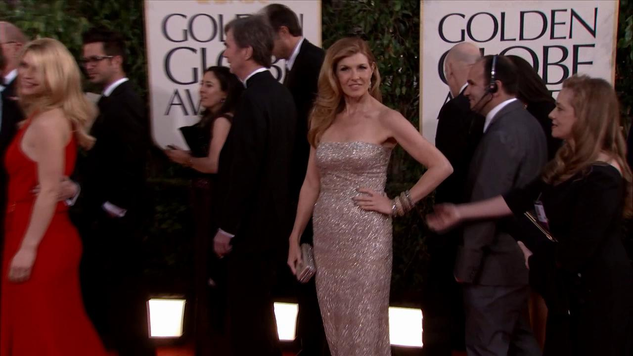 Connie Britton (ABCs Nashville) appears at the 2013 Golden Globe Awards in Beverly Hills, California on Jan. 13, 2013.