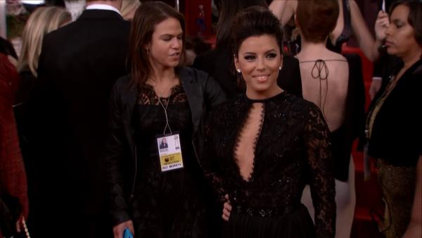 Eva Longoria appears at the 2013 Golden Globe Awards in Beverly Hills, California o