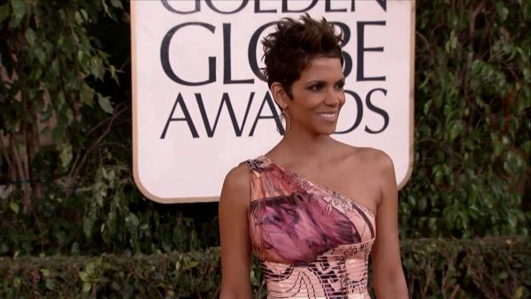 Halle Berry appears at the 2013 Golden Globe Awards in Beverly Hills, California on Jan. 13, 2