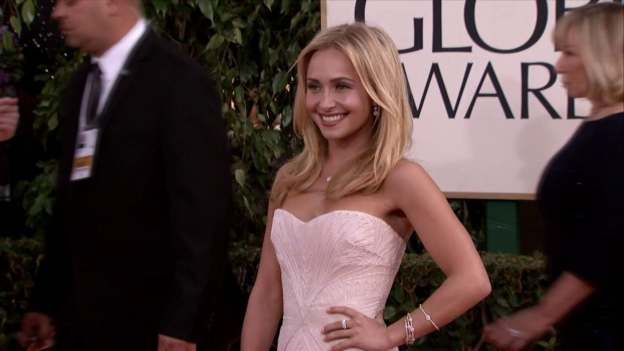 Hayden Panettiere (ABCs Nashville) appears at the 2013 Golden Globe Awards in Beverly Hills, California on Jan. 13, 2013.