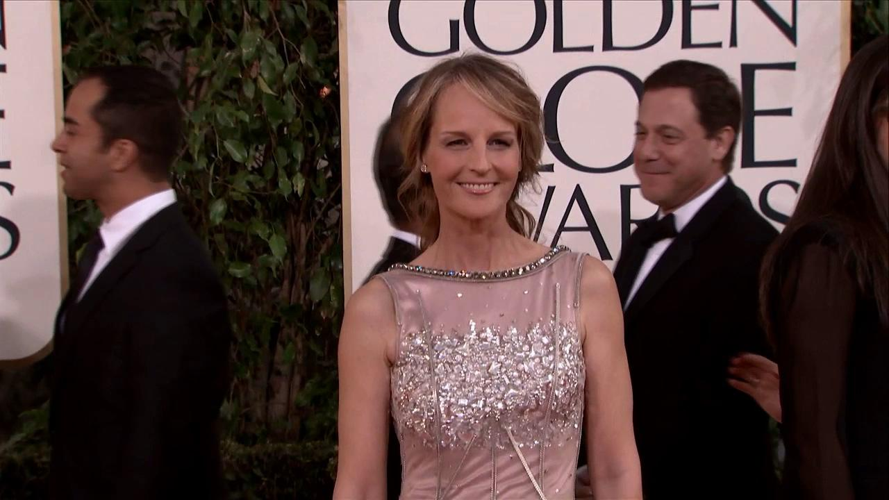 Helen Hunt appears at the 2013 Golden Globe Awards in Beverly Hills, California on Jan. 13, 2013.