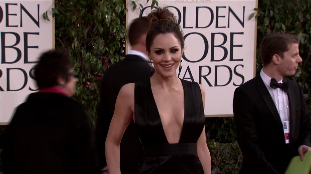 Katharine McPhee (NBCs Smash, American Idol alum) appears at the 2013 Golden Globe Awards in Beverly Hills, California on Jan. 13, 2013.