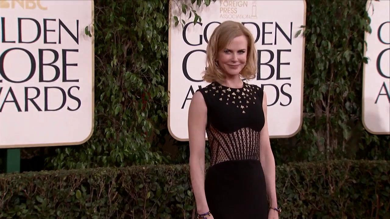 Nicole Kidman appears at the 2013 Golden Globe Awards in Beverly Hills, California on Jan. 13, 2013.