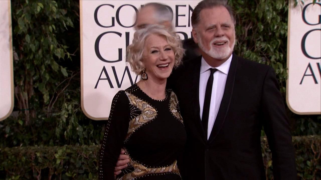 Helen Mirren appears at the 2013 Golden Globe Awards in Beverly Hills, California on Jan. 13, 2013.