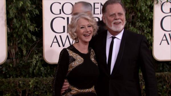 Helen Mirren appears at the 2013 Golden Globe Awards in Beverly Hill