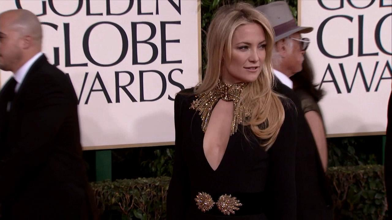 Kate Hudson appears at the 2013 Golden Globe Awards in Beverly Hills, California on Jan. 13, 2013.