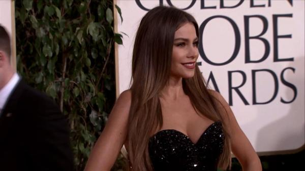 Sofia Vergara appears at the 2013 Golden Globe Awards in Beverly Hills, California on Jan. 13, 2013.